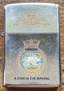 Zippo Lighter HMS Ursula 1991 Vintage Royal Navy Submarine