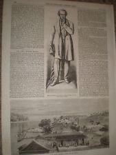 Port Blair South Andaman Island Bay of Bengal 1867 old print