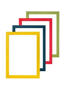 Premium Rainbow Wood Brushed Colour Picture Frame Photo Frame Poster Frame