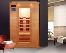 Sauna Infrarossi 120x115 per due persone Cromoterapia doppio pannello controllo