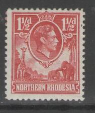 NORTHERN RHODESIA SG29 1938 1½d CARMINE-RED MTD MINT