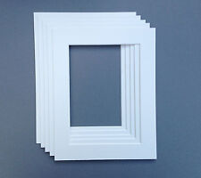 8 X 6 Inch White Mounts to fit 6 x 4 Picture/Photo - 5 PACK