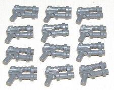LEGO LOT OF 12 NEW DARK BLUISH GREY DOUBLE BARREL PISTOLS ALIEN GUNS WEAPONS