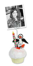 Personalized Petey Penguin Cupcake Photo Holder Polymer Clay by Deb & Co.