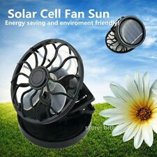 Energy saving Clip-on Solar Cell Fan Sun Power energy Panel Cooling Black LE