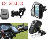 Universal Waterproof Motorcycle Bike Handlebar Mount Phone Holder 5.5 Garmin GPS