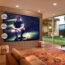 """100"""" pouces Projecteur Écran de projection 16:9 Blanc Mat 3D HD Home Cinéma Theater"""