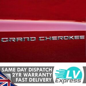 Single Chrome Door Badges 560x22mm Compatible with Grand Cherokee