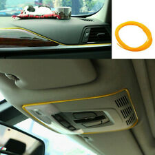 5M Car Van Interior Decor Yellow Point Edge Line Door Panel Accessories Molding