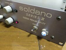 Soldano SP-77 Series II Tube Electric Guitar Preamp Distortion / clean channel