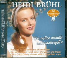 Heidi Brühl - Wir wollen niemals auseinandergeh'n - 40 große Erfolge (2-CD) -...
