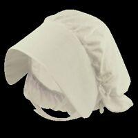 Child Size White Victorian Style Bonnet Hat  Fancy Dress Costume H20 214