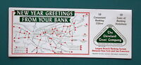 CLEVELAND Trust Company New Year Greetings - 1960s INK BLOTTER