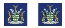 5 PR MODEL BUS WATERSLIDE TRANSFERS 1/76th  COATS OF ARMS ROTHERHAM ON BLUE