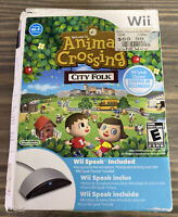 ANIMAL CROSSING: City Folk (Nintendo Wii) - COMPLETE WITH WII SPEAK