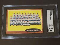 1962 Topps #251 New York Yankees SGC 5.5 Newly Graded & Labelled PSA BVS