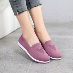 Women Casual Flats Loafers Shoes Sneakers Slip On Walking Breathable Shoes Comfy