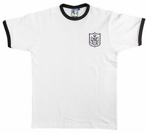 Fulham 1960s Retro Football T Shirt Embroidered Crest S-XXL Free UK Delivery