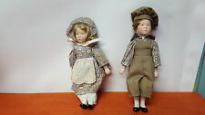 Pair of Matching Dolls - Porcelain Heads, Arms and Legs