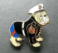 USMC MARINE CORPS BULLDOG CUTOUT LAPEL PIN BADGE 1 INCH US MARINES