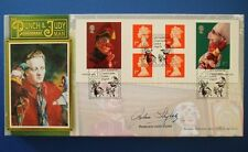 BENHAM 2001 PUNCH AND JUDY BOOKLET FIRST DAY COVER SIGNED BY PROF JOHN STYLES