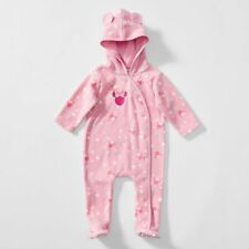NWT Disney Licensed Minnie Mouse Girls Spot Coverall Romper Size 000 or 00 or 0