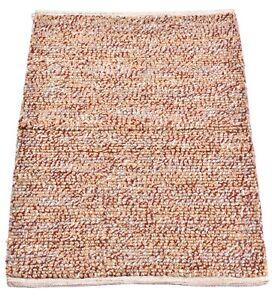2x3 Ft Handmade Runner Jute & Wool Door Mat Geometric Rugs Multi Reversible Dari