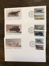 """Canada, 1993, """"Canada Heritage Motorized Vehicles"""" Set Of 6 Stamps On 3 Fdcs"""