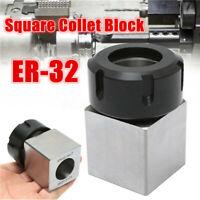Hard Steel Hex Square ER32 Collet Chuck Holder Block CNC Lathe Holder 45x65mm