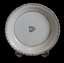 Chinese Export Hand Painted Porcelain Saucer, circa 1830. Floral Designs