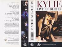 KYLIE MINOGUE KYLIE LIVE IN DUBLIN VHS PAL VIDEO~A RARE FIND