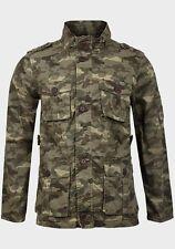 Brave Soul Uomo Camouflage Blazer Jacket Coat-Taglia Small