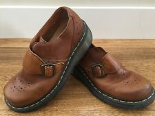 Doc Dr Martens Brown Leather Buckle Loafers UK size 6 ** US size 7M