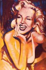 Marilyn Monroe 1950's Actress Bust Photo Laughing 24 x 36 Poster