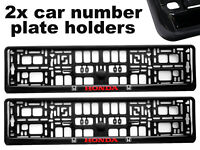 2 x Doming CAR Number Plate Surround Holder Frames BEST FIT for HONDA