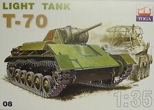 Leichter sowjetischer Panzer T-70, 1:35, TOGA, Plastik,Sonderpreis Neuware!