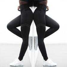 Womens Sports YOGA Workout Slim Fitness Leggings Pants Jumpsuit Athletic Black L