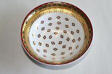 Belle coupelle en porcelaine signée Geneviève Lethu décor Sari 13 cm