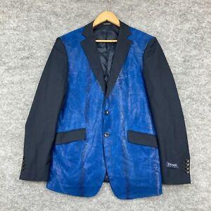 Kenzo Mens Suit Blazer Jacket Size IT 50 AU Medium Blue Long Sleeve 50.02