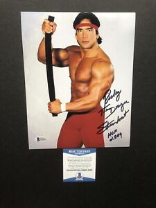 Ricky Steamboat autographed signed 8x10 photo Beckett BAS COA WWE The Dragon WWF