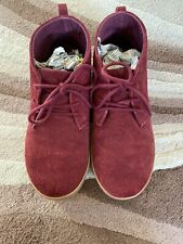 Boys Gap Kids Red Suede Smart Casual Shoes Size UK 4 Eur 35