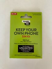 Straight Talk Sim Card Activation Kit For Verizon Cdma And At&T Gsm, No T-Mobile