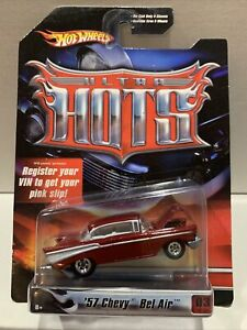 Hot Wheels Ultra Hots 57 Chevy Bel Air ULTRA RARE RED SEALED UNOPENED VHTF