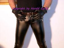 Hx691 Similpelle Jeans Skinny Pantaloni Nero Lucido S-M UNISEX decorazione-RV su Borsa