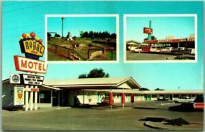 Las Cruces, New Mexico Postcard ROYAL HOST MOTEL Highway 70 / 80 Roadside c1960s