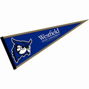 """Westfield State University Owls 12"""" X 30"""" College Pennant"""