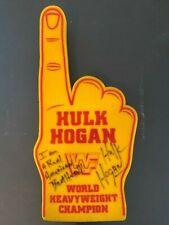 Hulk Hogan autographed Original WWF American Made Hulkamania Foam Finger