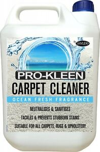 CARPET CLEANING SOLUTION ODOUR EXTRACTION REMOVER UPHOLSTERY SHAMPOO OCEAN 5L