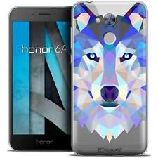 "Coque Housse Etui Pour Honor 6A (5"") Polygon Animal Souple Fin Loup"