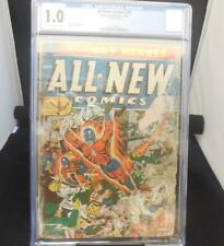 All New Comics #10 CGC 1.0 Schomburg War Cover 1944